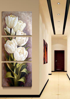 3 Piece Oil painting Living Room Modern Wall Painting Flower Decorative Wall Art Painting Pictures Print On Canvas(No Frame)-Dollar Bargains Online Shopping Australia