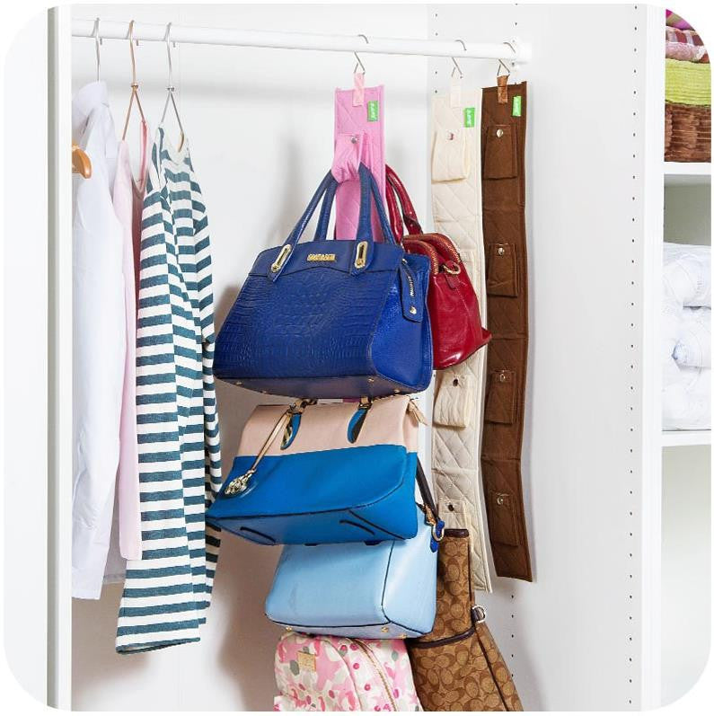 Creative Storage Bag for Handbag Bags Hanging in Wardrobe Clothing Container Folding Organizer Travel Bag Boxes 2 Kinds