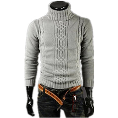Men's Thick Warm Turtleneck Elasticity Sweater Sweater Irregular Fashion Tide Models Fitted British Shipping M\L\XL\XXL-Dollar Bargains Online Shopping Australia