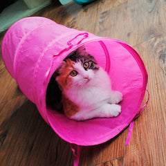 Pet Cat Puppies Kitten Small Foldable Tunnel Dangling Bell Play Toy Gift New D0173-Dollar Bargains Online Shopping Australia