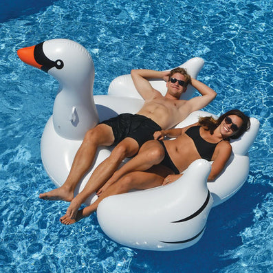 150cm Giant Inflatable Swan Flamingo Ride-On Pool Toys Float Inflatable Swan For Pool Swim Ring Water Fun Pool Toys-Dollar Bargains Online Shopping Australia