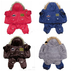 Winter Warm Thick For Large Small Dog Pet Clothes Padded Hoodie Jumpsuit Pants Apparel XS-5XL New Arrival-Dollar Bargains Online Shopping Australia