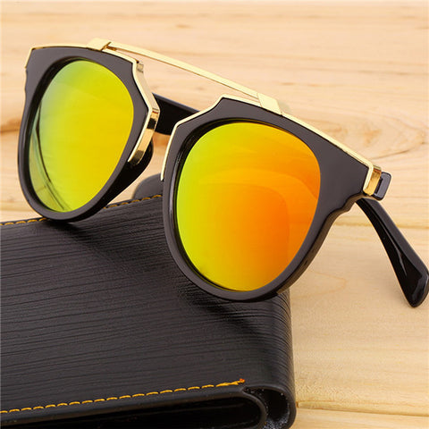 Super Star Fashion Sunglass 2016 new cat eye coating sunglasses women brand designer vintage sun glasses for men oculos de sol - Dollar Bargains - 4