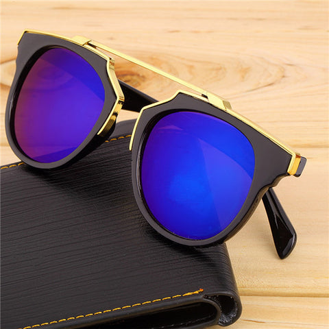 Super Star Fashion Sunglass 2016 new cat eye coating sunglasses women brand designer vintage sun glasses for men oculos de sol - Dollar Bargains - 3