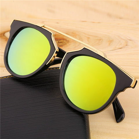 Super Star Fashion Sunglass 2016 new cat eye coating sunglasses women brand designer vintage sun glasses for men oculos de sol - Dollar Bargains - 5
