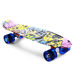 CL - 85 Printing Graffiti Style Skateboard Complete 22 inch Dragon Skateboard Retro Cruiser Longboard Retro Skate Long Board-Dollar Bargains Online Shopping Australia