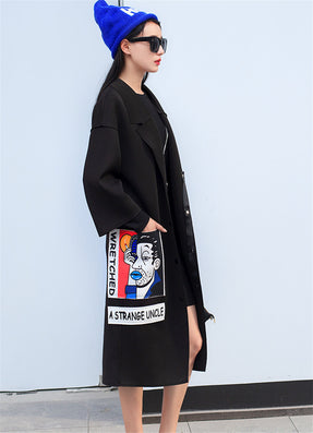 New Spring Fashion/Casual Women's Trench Coat Long Outerwear Cartoon Loose Clothes Single Breasted Vestidos Plus Size-Dollar Bargains Online Shopping Australia