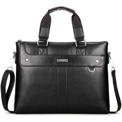 Brand High Quality Leather Men Briefcase 14inch Leather Men Handbag For Laptop Classic Business Man Bag-Dollar Bargains Online Shopping Australia