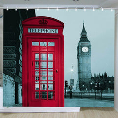 New Famous City Landmark Pattern London Big Ben Polyester Shower Curtain Waterproof Home Bathroom Curtains-Dollar Bargains Online Shopping Australia