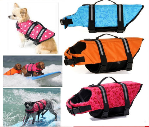 Pet Dog Save Life Jacket Safety Clothes Life Vest Outward Saver Pet Dog Swimming Preserver Large Dog Clothes Summer Swimwear - Dollar Bargains - 1