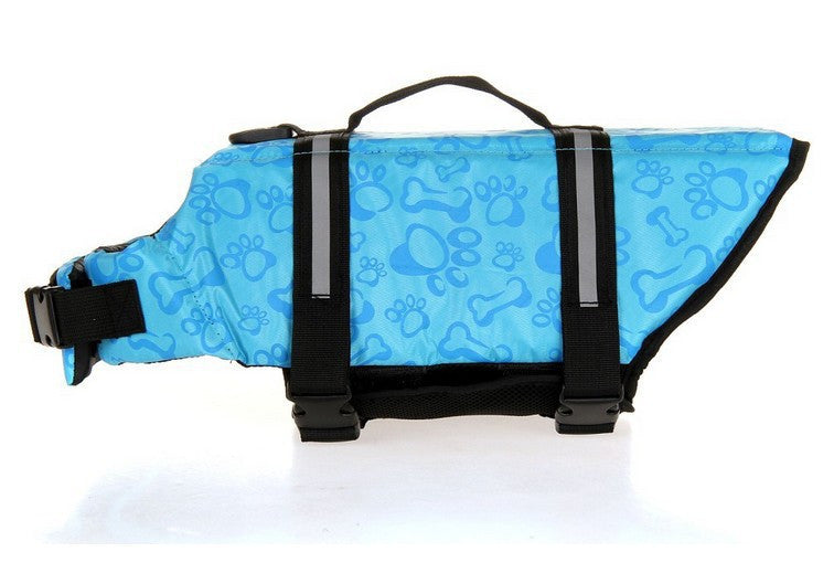 Blue Bone Pattern / LPet Dog Save Life Jacket Safety Clothes Life Vest Outward Saver Pet Dog Swimming Preserver Large Dog Clothes Summer Swimwear