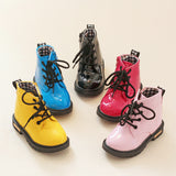 Children shoes boys girls Candy Color patent leather boots kids Martin boots children girls boys Motorcycle boots size 21-38-Dollar Bargains Online Shopping Australia