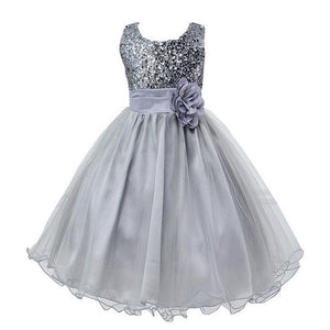 New Fashion Sequin Flower Girl Dress Party Birthday wedding princess Toddler baby Girls Clothes Children Kids Girl Dresses - Dollar Bargains - 1