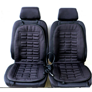 Winter Warmer Car Heated Seat Cushion Cover Heat Heating- 2 Pieces Conjoined-Dollar Bargains Online Shopping Australia