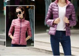 Stand Collar Slim Short White Duck Women Ultra Light Down Jacket Casual Padded Coat-Dollar Bargains Online Shopping Australia
