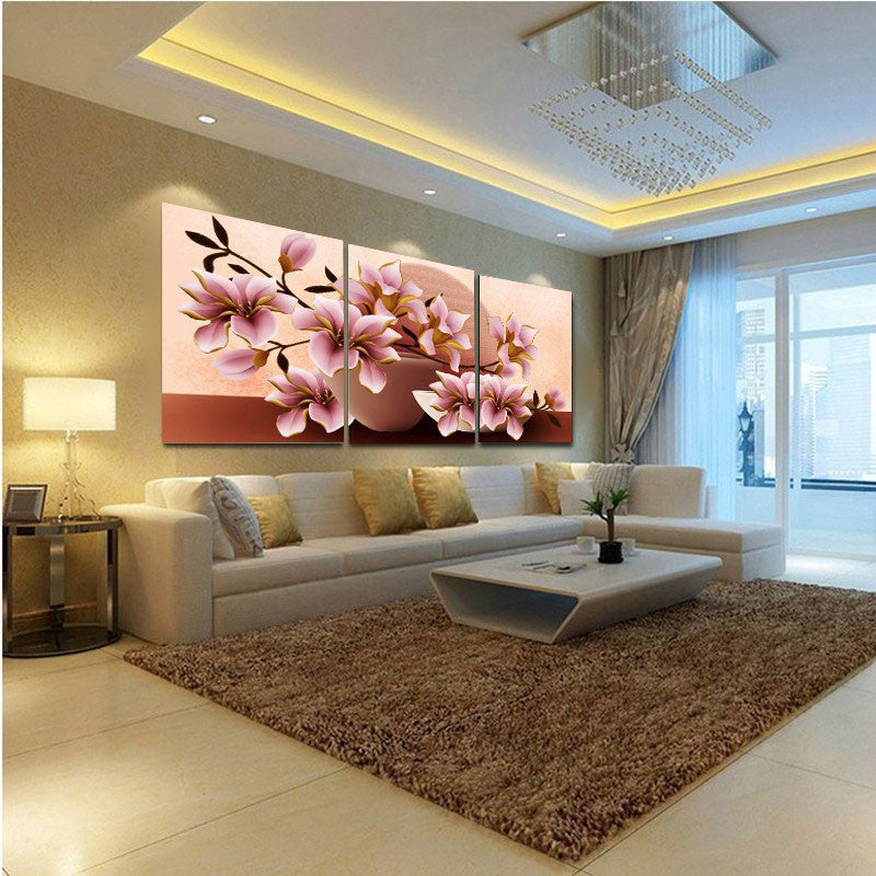 No Frame Orchid Wall Painting Flower Canvas Painting Home Decoration  Pictures Wall Pictures For Living Room Part 63
