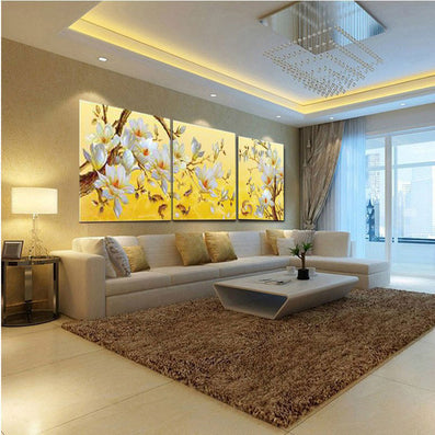 No Frame Orchid Wall Painting Flower Canvas Painting Home Decoration ...