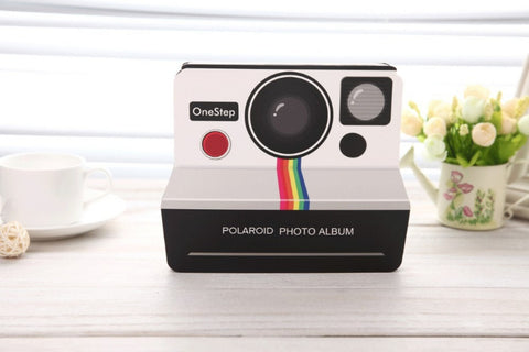 Free Shipping 1Piece Vintage Camera Polaroid Photo Album 5/6 inch DIY Scrapbook Album Paste Album Gallery - Dollar Bargains