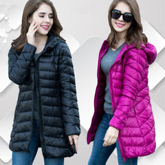 New Winter jacket Woman's Outerwear Slim Hooded Down Jacket Woman Warm Down Coat Women Ultra Light White Duck Down Parkas W00785-Dollar Bargains Online Shopping Australia