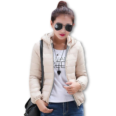 11 Colors Warm Winter Parka Jacket Coat Ladies Women Jacket Slim Short Padded Women-Dollar Bargains Online Shopping Australia