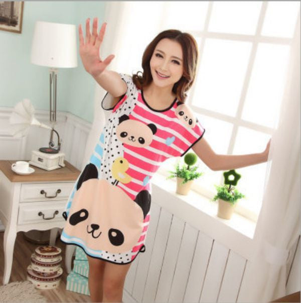 NO14 / One Sizenew Women's fashion wearing loose sweet womens pajamas Animal printing Indoor Clothing Home Suit Sleepwear summer Pajamas