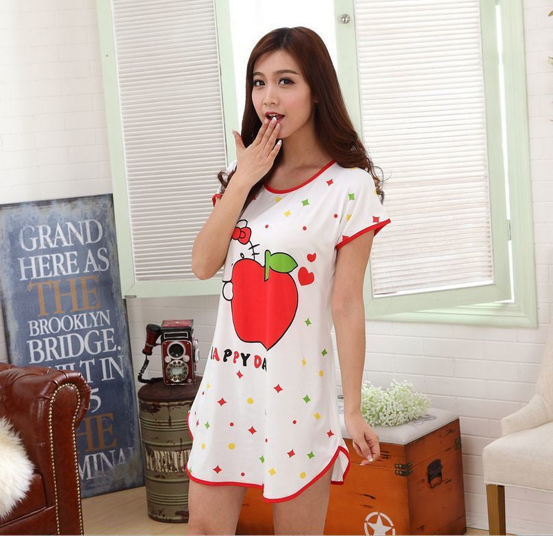 NO3 / One Sizenew Women's fashion wearing loose sweet womens pajamas Animal printing Indoor Clothing Home Suit Sleepwear summer Pajamas