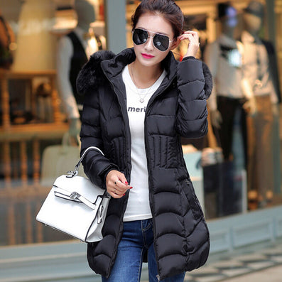 2016 Plus Size New Arrive Warm Down & Parkas Long Sleeve Button Zipper Long Style Outwear Thick Winter Jacket Women Coat - Dollar Bargains - 4