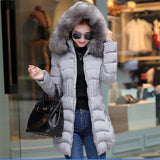 2016 Plus Size New Arrive Warm Down & Parkas Long Sleeve Button Zipper Long Style Outwear Thick Winter Jacket Women Coat - Dollar Bargains - 5