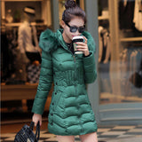 2016 Plus Size New Arrive Warm Down & Parkas Long Sleeve Button Zipper Long Style Outwear Thick Winter Jacket Women Coat - Dollar Bargains - 2