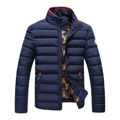 Winter Jacket Men Brand Parka Man Clothing Stand Collar Zipper Thick Quilted Jackets Coat-Dollar Bargains Online Shopping Australia