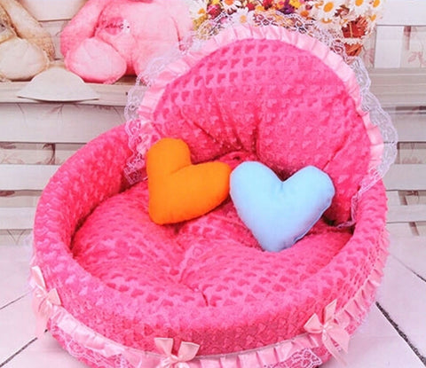 Free shipping 2015 Hot New luxury dog princess bed lovely cool dog pet cat beds sofa teddy house for dogs DB020 - Dollar Bargains - 1