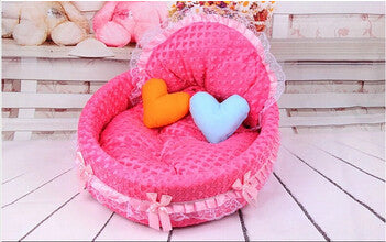 A / LNew luxury dog princess bed lovely cool dog pet cat beds sofa teddy house for dogs DB020