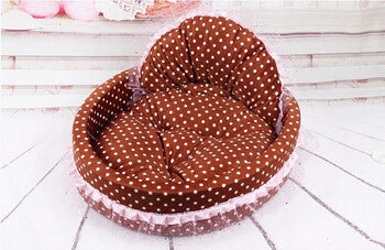 B / MNew luxury dog princess bed lovely cool dog pet cat beds sofa teddy house for dogs DB020