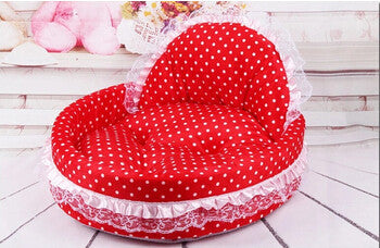 C / MNew luxury dog princess bed lovely cool dog pet cat beds sofa teddy house for dogs DB020