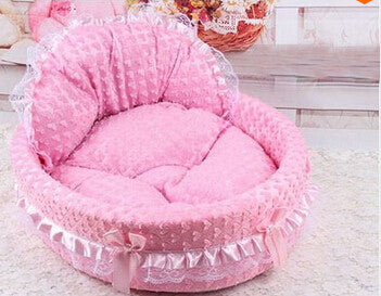 D / MNew luxury dog princess bed lovely cool dog pet cat beds sofa teddy house for dogs DB020
