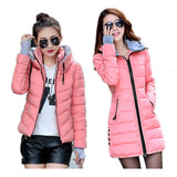 2016 New Wadded Jacket Female Women Winter Jacket Down Cotton Coat Slim Parkas Ladies Plus Size Womens Jackets And Coats C2262 - Dollar Bargains - 1