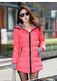 2016 New Wadded Jacket Female Women Winter Jacket Down Cotton Coat Slim Parkas Ladies Plus Size Womens Jackets And Coats C2262 - Dollar Bargains - 20