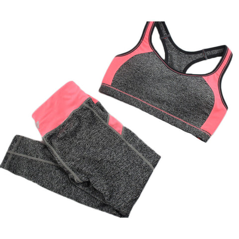 B.BANG New Women's Casual Sets Seamless Bra Top and Elastic Capris Fashion Patchwork Suits 1 Set - Dollar Bargains - 1