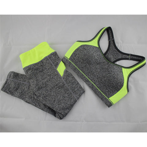 B.BANG New Women's Casual Sets Seamless Bra Top and Elastic Capris Fashion Patchwork Suits 1 Set - Dollar Bargains - 4