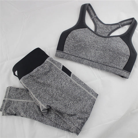 B.BANG New Women's Casual Sets Seamless Bra Top and Elastic Capris Fashion Patchwork Suits 1 Set - Dollar Bargains - 3