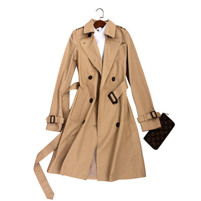 Spring Autumn Brand Casual Trench coat for women Plus Size Long Double breasted Slim Windbreaker Outerwear Coats-Dollar Bargains Online Shopping Australia
