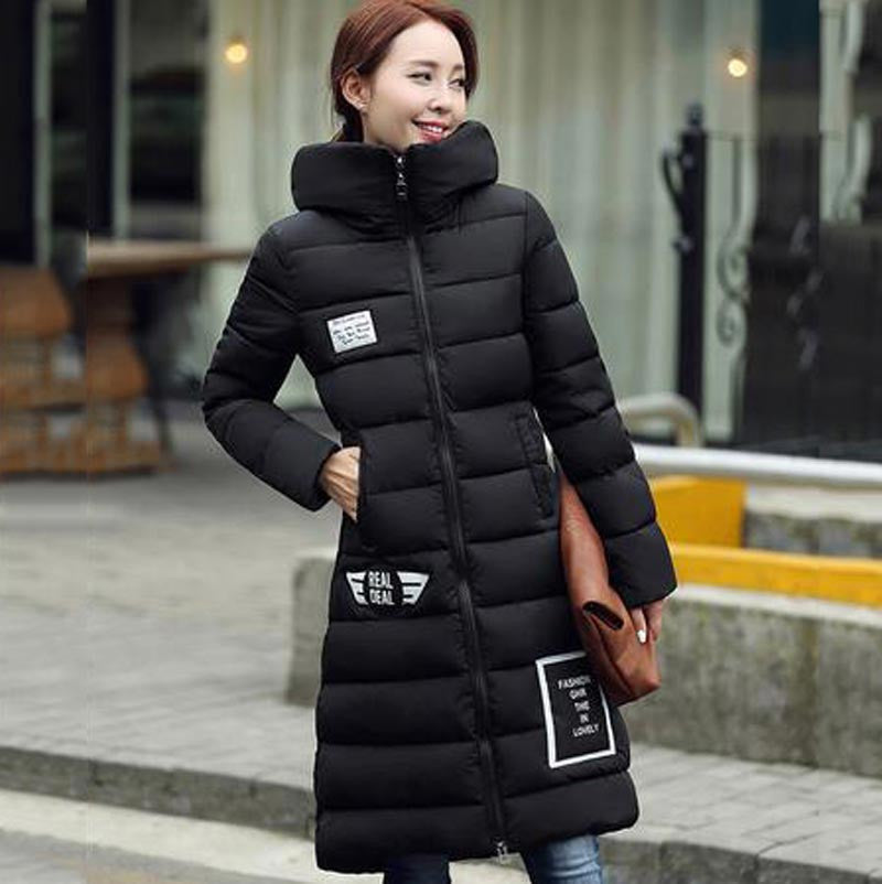 women's  cotton-padded jacket 2016 newest winter thicken long slim down parka high quality plus size hooded female coat kl0627 - Dollar Bargains - 5