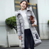 women's cotton-padded jacket est winter thicken long slim down parka high plus size hooded female coat kl0627-Dollar Bargains Online Shopping Australia