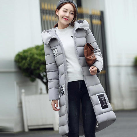 women's  cotton-padded jacket 2016 newest winter thicken long slim down parka high quality plus size hooded female coat kl0627 - Dollar Bargains - 3