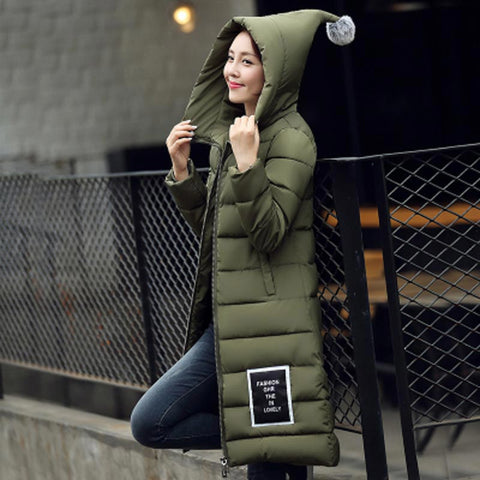 women's  cotton-padded jacket 2016 newest winter thicken long slim down parka high quality plus size hooded female coat kl0627 - Dollar Bargains - 2