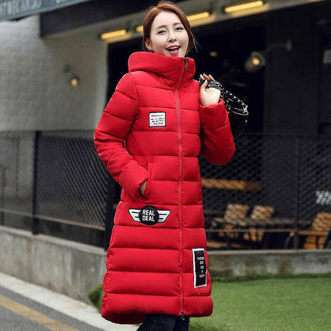 women's  cotton-padded jacket 2016 newest winter thicken long slim down parka high quality plus size hooded female coat kl0627 - Dollar Bargains - 4