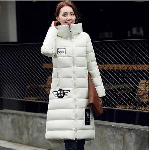 women's  cotton-padded jacket 2016 newest winter thicken long slim down parka high quality plus size hooded female coat kl0627 - Dollar Bargains - 6