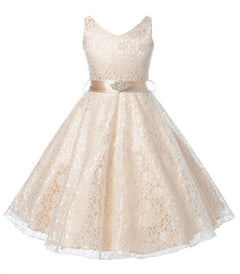 girls party wear dress kids flower lace children girls elegant ceremonies wedding birthday dresses teenagers prom gowns-Dollar Bargains Online Shopping Australia