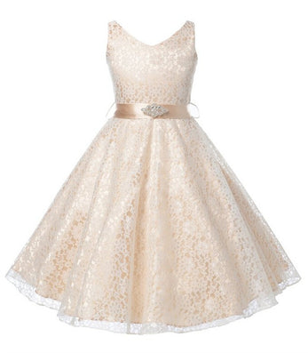 Girls party wear dress kids flower lace children girls elegant girls party wear dress kids 2015 flower lace children girls elegant ceremonies wedding birthday dresses teenagers junglespirit Image collections
