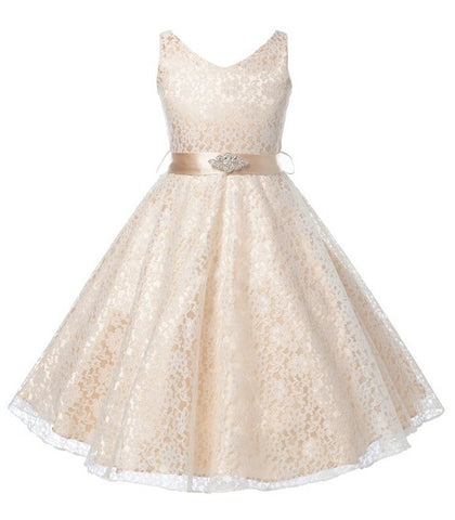girls party wear dress kids 2015 flower lace children girls elegant ceremonies wedding birthday dresses teenagers prom gowns - Dollar Bargains - 1